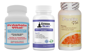 save money when you buy Prostata Vital, Estrogen Balance y Pectin Plus together
